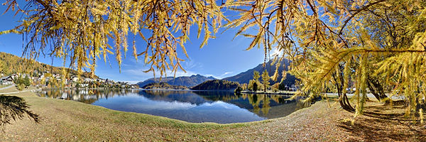 St-Moritz See Grisons Graubuenden Suisse Schweiz Switzerland autumn fall