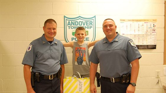 The Andover Township Police Department would like to say thank you to this young man for bringing the officers a card and a supply of delicious snacks for us to enjoy. We are extremely grateful for all the support we are receiving from our community and it is moments like these which makes us all proud to be part of Andover Township. Thank you so much for showing your appreciation to our department and to all officers across the country.