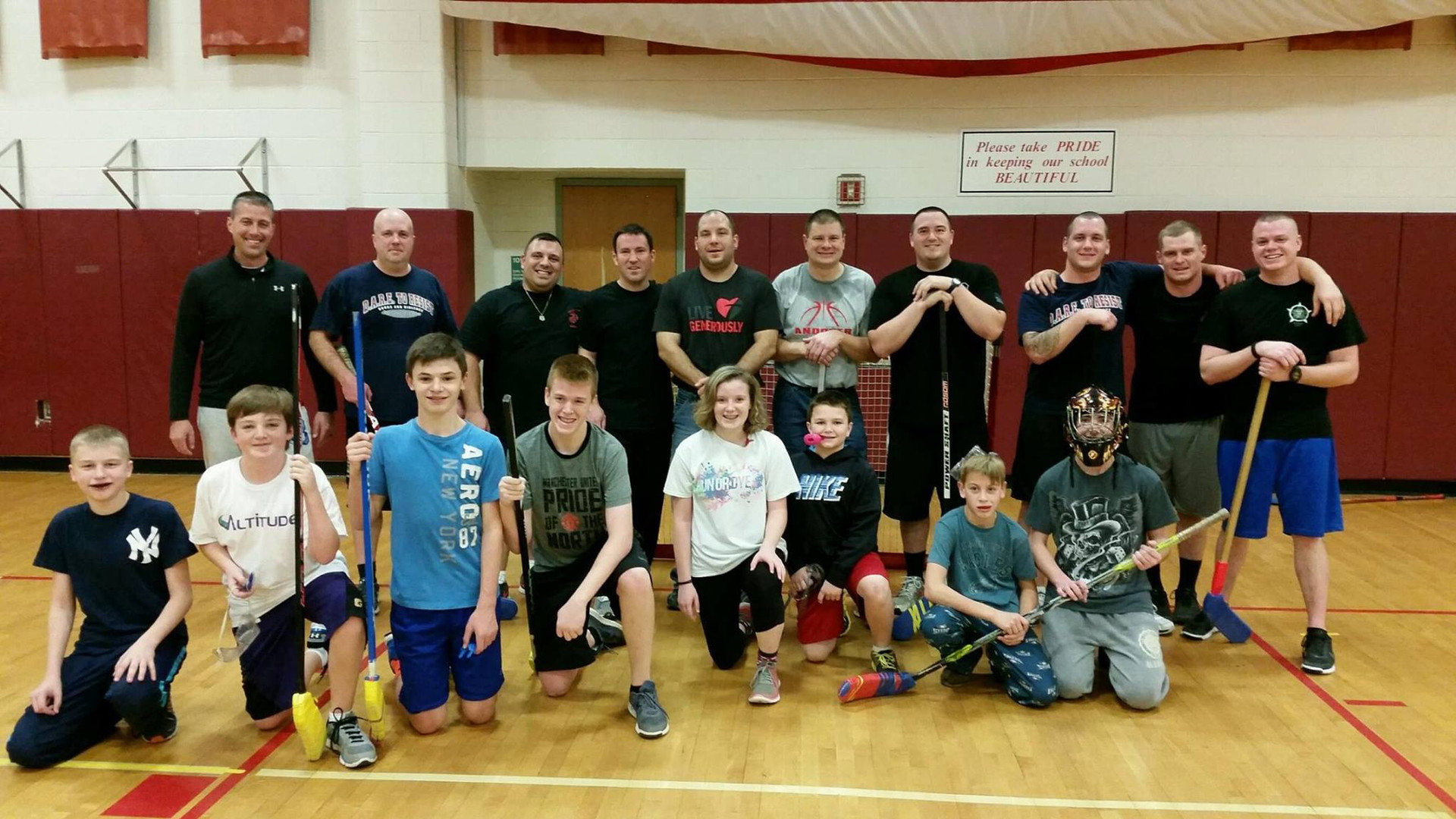 The Annual Cops vs Kids Floor Hockey Game is always a success!