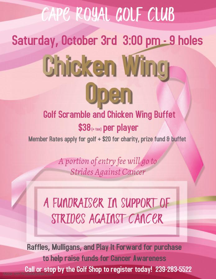 making strides chicken wing open