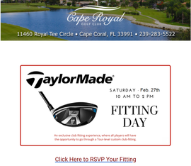 TaylorMade Fitting Day. Reservation Requ