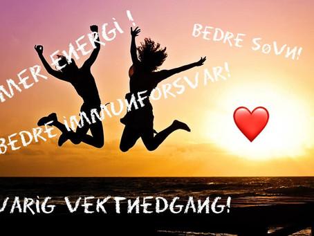 Bedre helse og vektreduksjon - GRATIS kurs i Fredrikstad onsdag 2301.2019 !