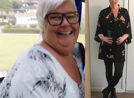 Siw Carina har gått ned 32 kilo totalt💃🏾
