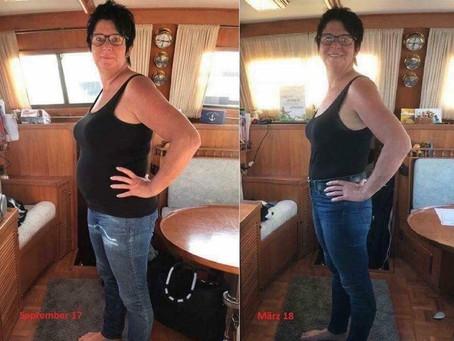 Andrea før og etter dietten