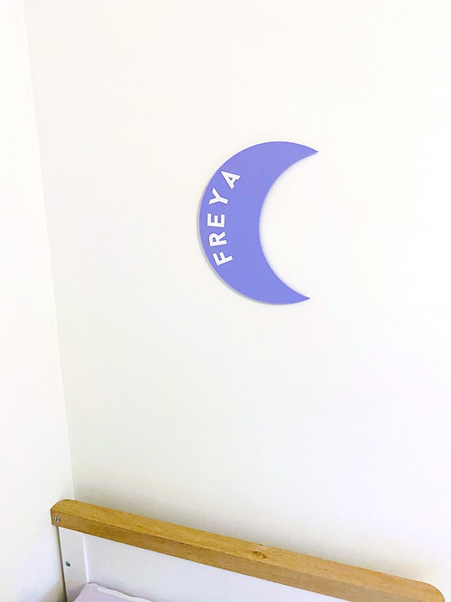Personalised Moon Wall Sign