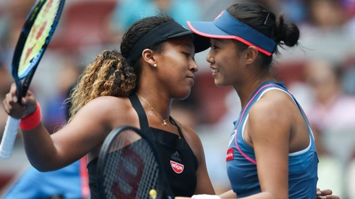 Naomi Osaka apologises after 'emotional' win over Zhang Shuai
