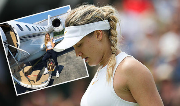 Eugenie Bouchard boards private plane after shock withdrawal from Swiss Open
