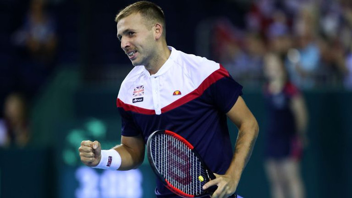 Great Britain's Dan Evans secures five-set marathon Davis Cup win against Uzbekistan