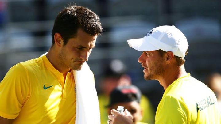 Australia Davis Cup captain Lleyton Hewitt accuses Bernard Tomic of blackmail and physical threats