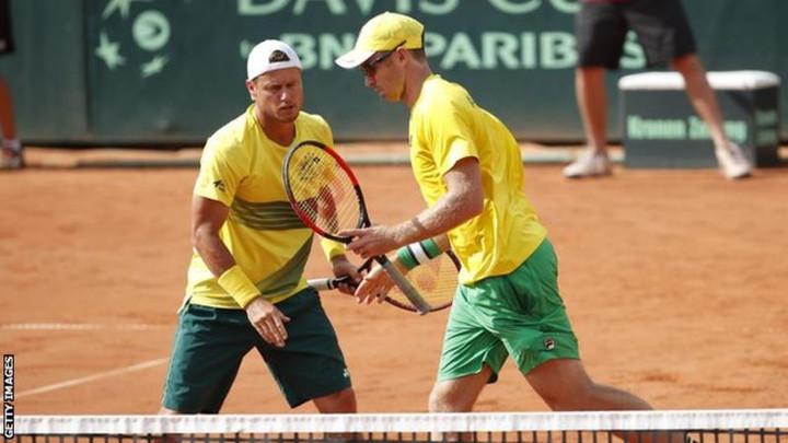 Davis Cup: Australia captain Lleyton Hewitt part of victorious doubles team