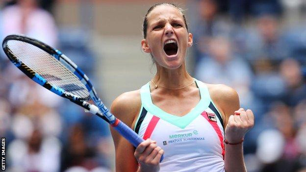Karolina Pliskova has reached the quarter-finals at four of the past five Grand Slams