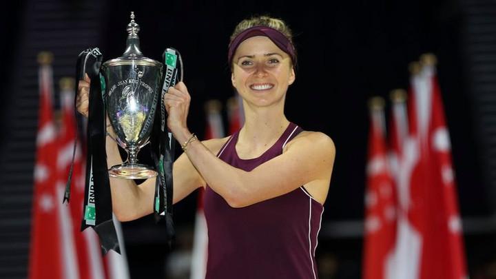 Elina Svitolina claims WTA Finals title in Singapore