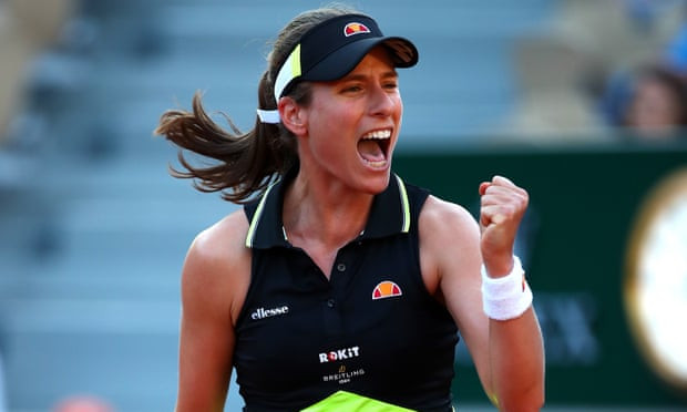 Konta becomes first British female player to reach the last 16 of the French Open in 36 years after