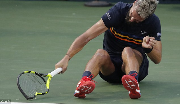 Benoit Paire smashes three rackets during hysterical rampage at the Citi Open