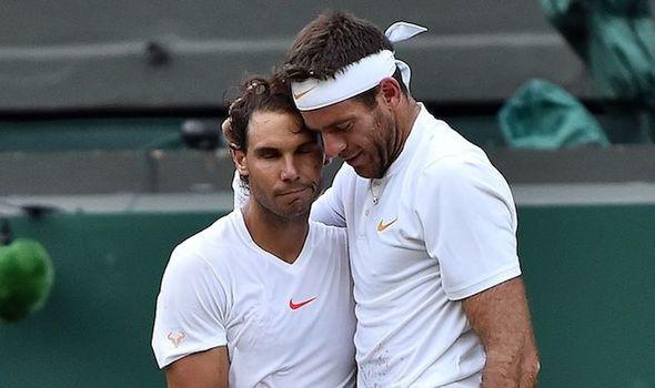 Rafael Nadal and Juan Martin del Potro share touching Wimbledon moment after epic clash