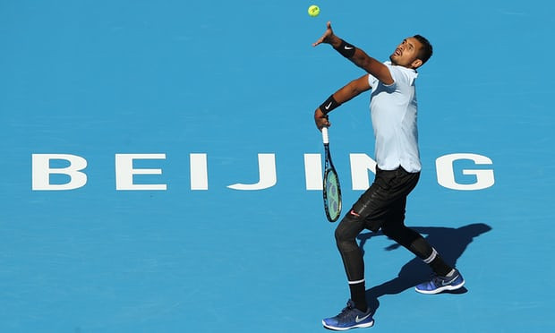 Kyrgios's motivation in Beijing was to atone for the worst performance of his career