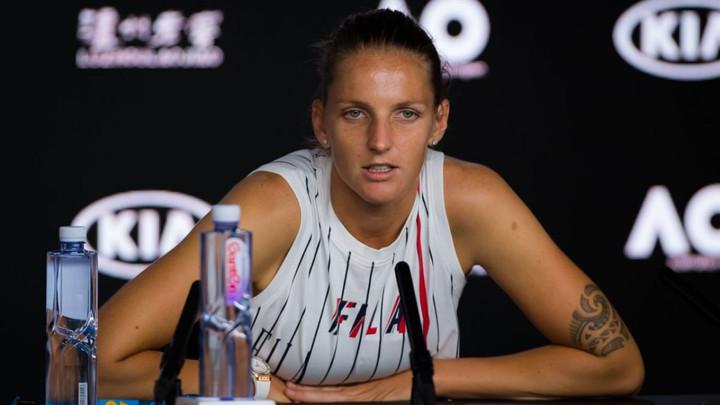 """Karolina Pliskova: """"It's weak from Them"""" Pliskova speaks her mind"""