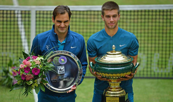 Roger Federer: Borna Coric makes 'lucky' claim after Halle Open victory