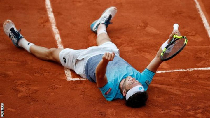 World number 72 Marco Cecchinato shocks David Goffin at Roland Garros