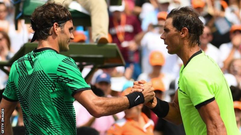 Roger Federer and Rafael Nadal have won 34 Grand Slam titles between them
