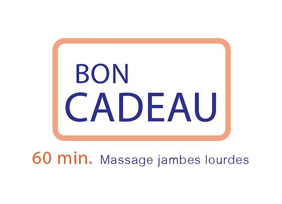 Bon cadeau Massage jambes lourds  60 min.