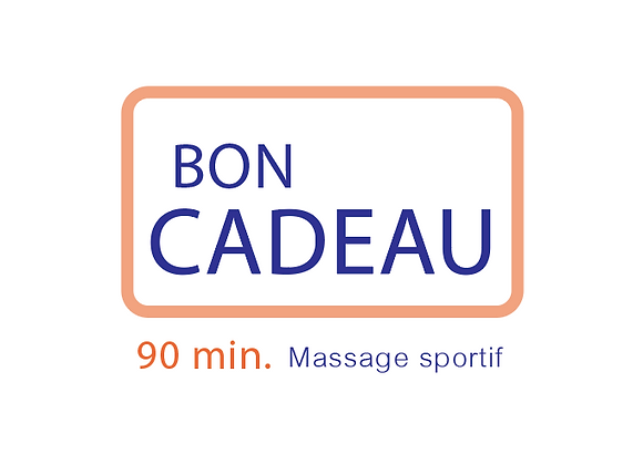 Bon cadeau Massage Sportif 90 min.