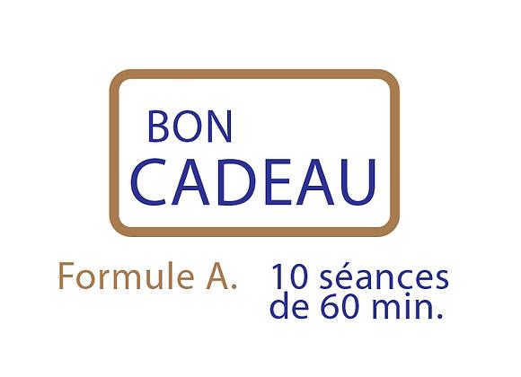 Bon cadeau Formule A : 10 séances de 60 min.