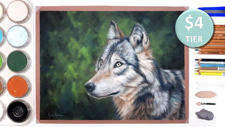 Wolf in Pastels