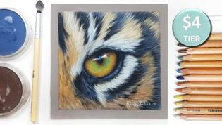 Tiger Eye in Pastels