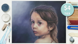 Young Girl in Pastels