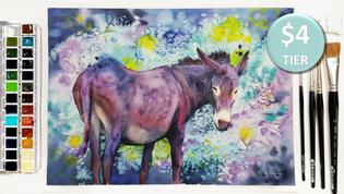 Donkey in Watercolour