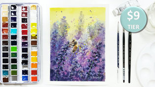 Bee in Watercolour