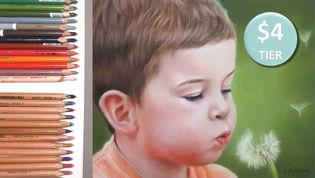 Young Boy in Pastel Pencils