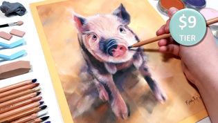 Pig in Pastels
