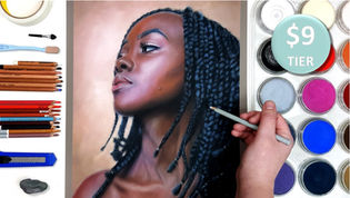 Dark Skin Tone Portrait in Pastels