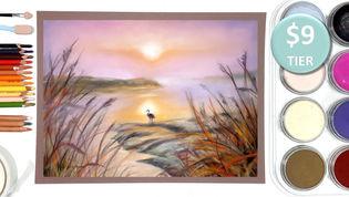 Foggy Landscape in Pastels