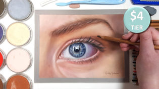 Female Eye Study in Pastels