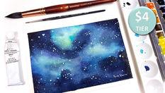 Galaxy in Watercolour