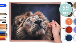 Lion in Pastels