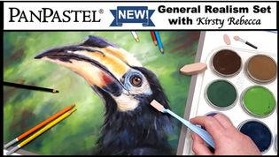 Hornbill in Pastels