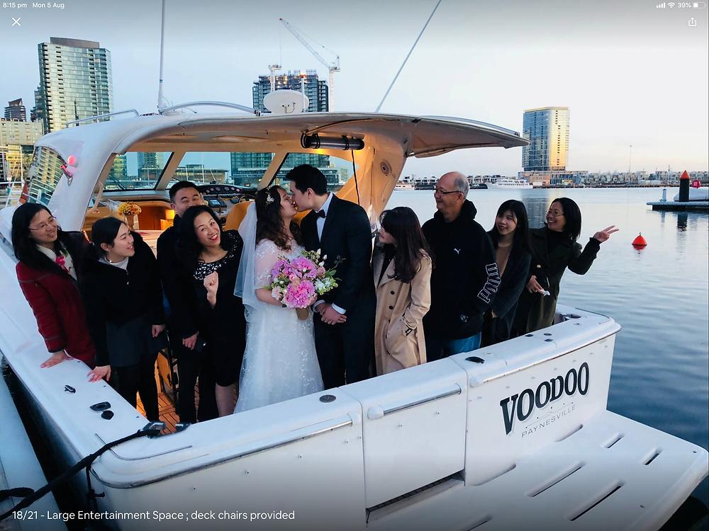 Melbourne Wedding Boat