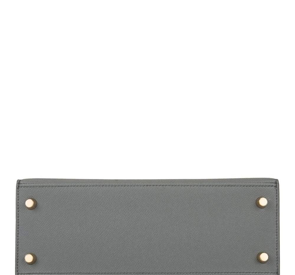 Kelly Vert Amande Epsom 25 Gold Hardware