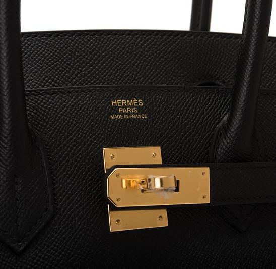 Birkin 30 Black Espom Gold Hardware clos