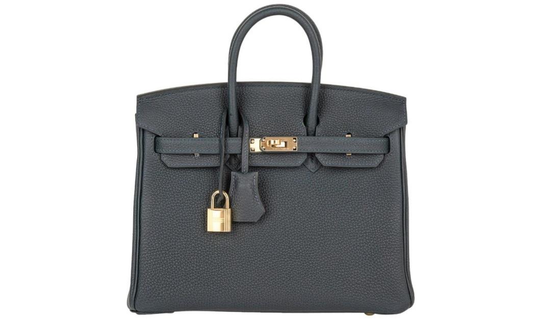 Birkin 30 Bag Vert Rousseau Togo Gold Ha
