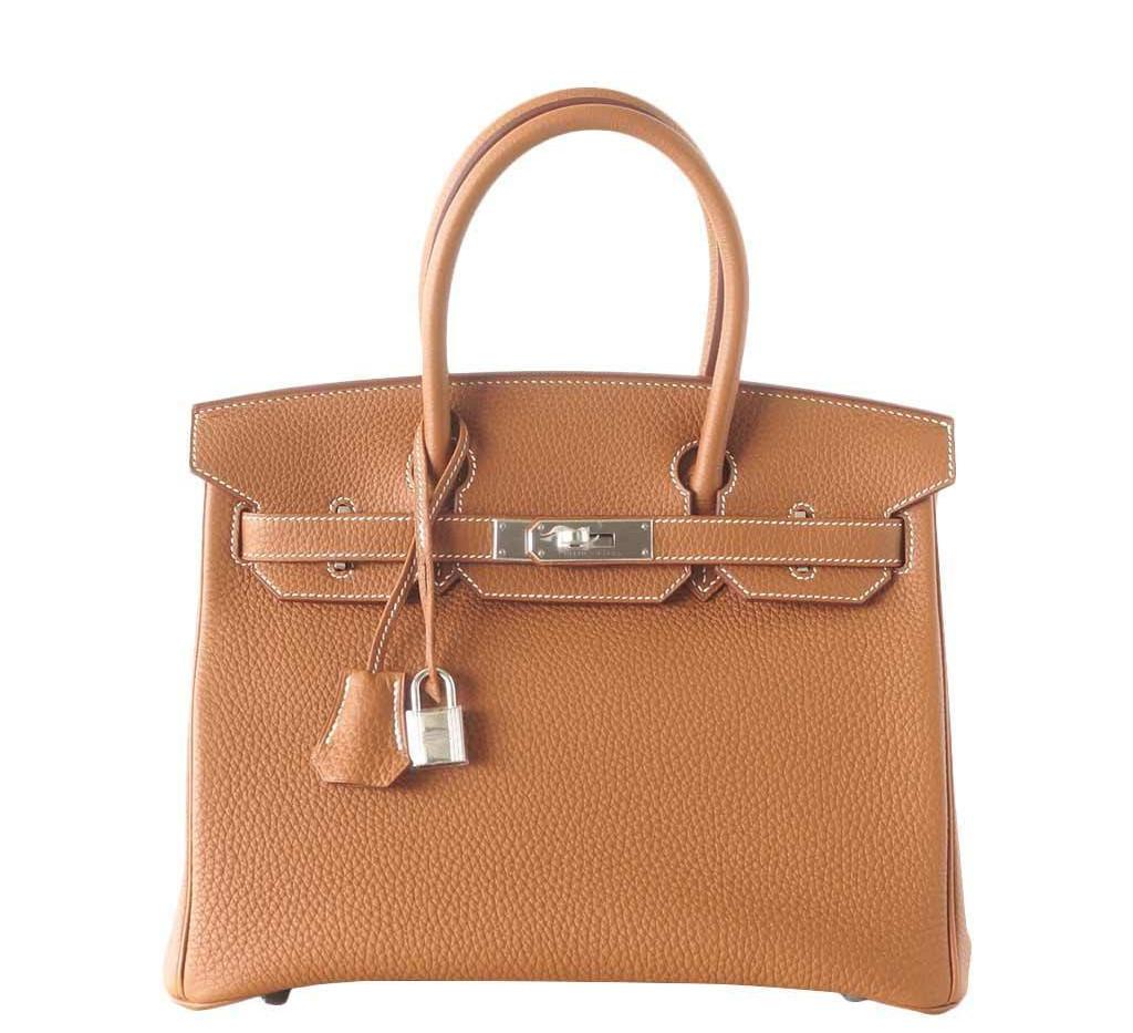 Hermes Birkin bag Gold 30 PHW Togo leather Duke of Luxury