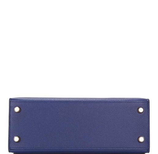 Kelly 25cm Bleu Encre Epsom Sellier Gold