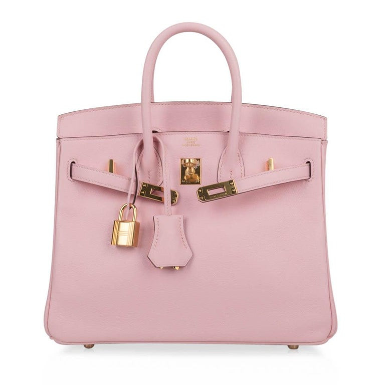 hermes Birkin 25 Rose Sakura Swift leather GHW Duke of Luxury