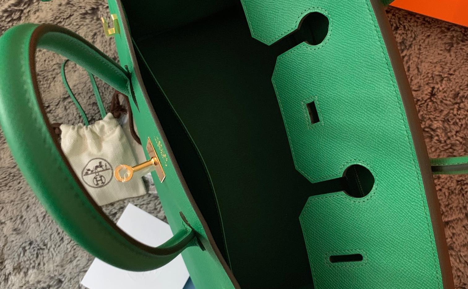 Hermes Birkin 35 cactus Epsom leather GH