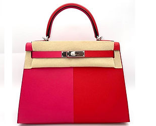 Kelly 28 Tri-Color Rouge Casaque Rose Ex