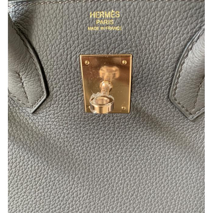 Birkin 30 Etain Togo Rose Gold Hardware